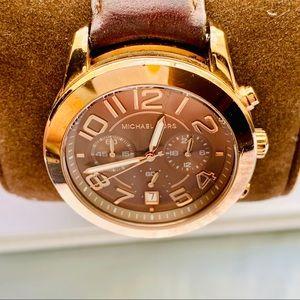 Michael Kors Accessories - Michael Kors Rose Gold Chronograph Watch